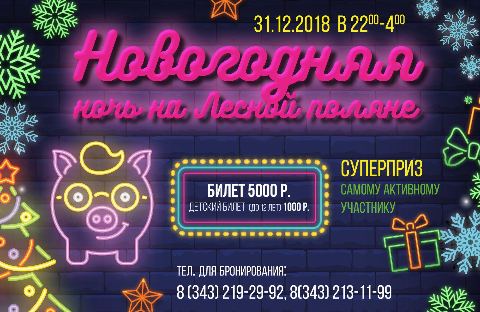 Новогодняя ночь 2019 на Лесной Поляне!